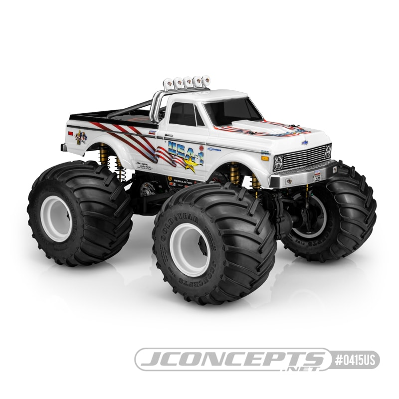 JConcepts 1970 Chevy K10 USA-1 Edition R/C Monster Truck Body