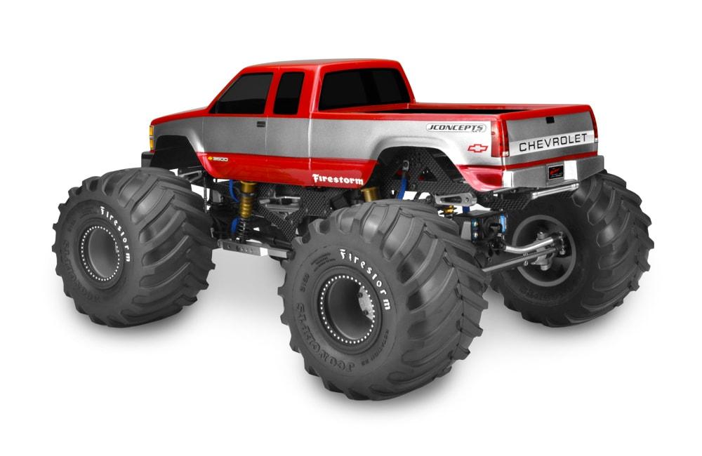 JConcepts Chevrolet Silverado Monster Truck - Rear