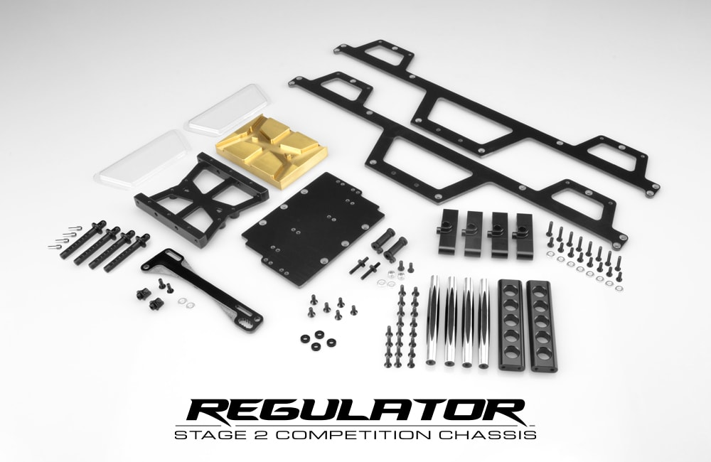 JConcepts Regulator Stage 2 Competition Monster Truck Chassis - Components