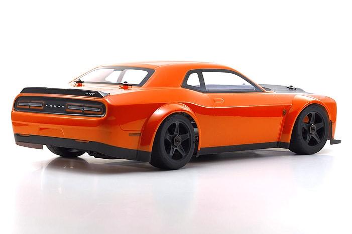 Kyosho Inferno GT2 Dodge Challenger Go Mango - Rear