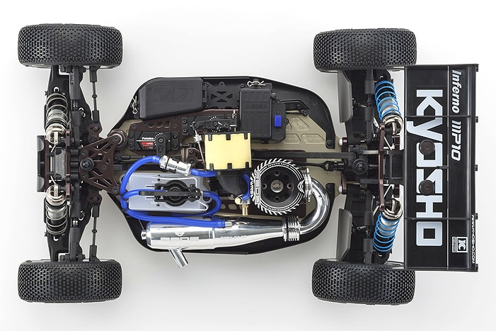 Kyosho MP10 RC Buggy Kit - Chassis Top