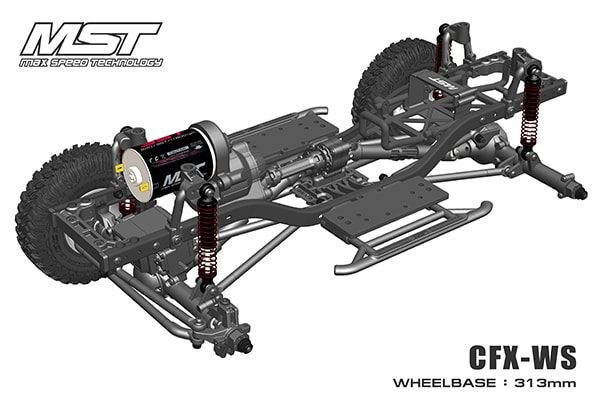 Max Speed Technology's Latest Crawler Chassis; the CFX-WS