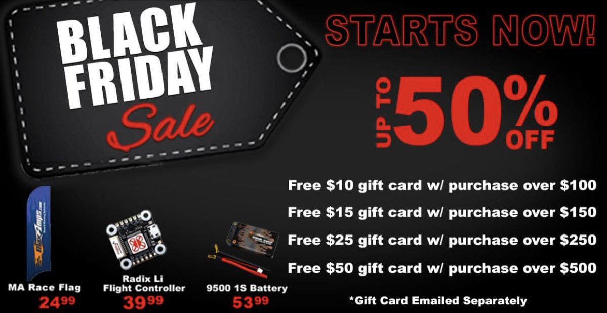 Discounts on Batteries, Flight Controllers, Gear, and More During the MaxAmps Black Friday Sale