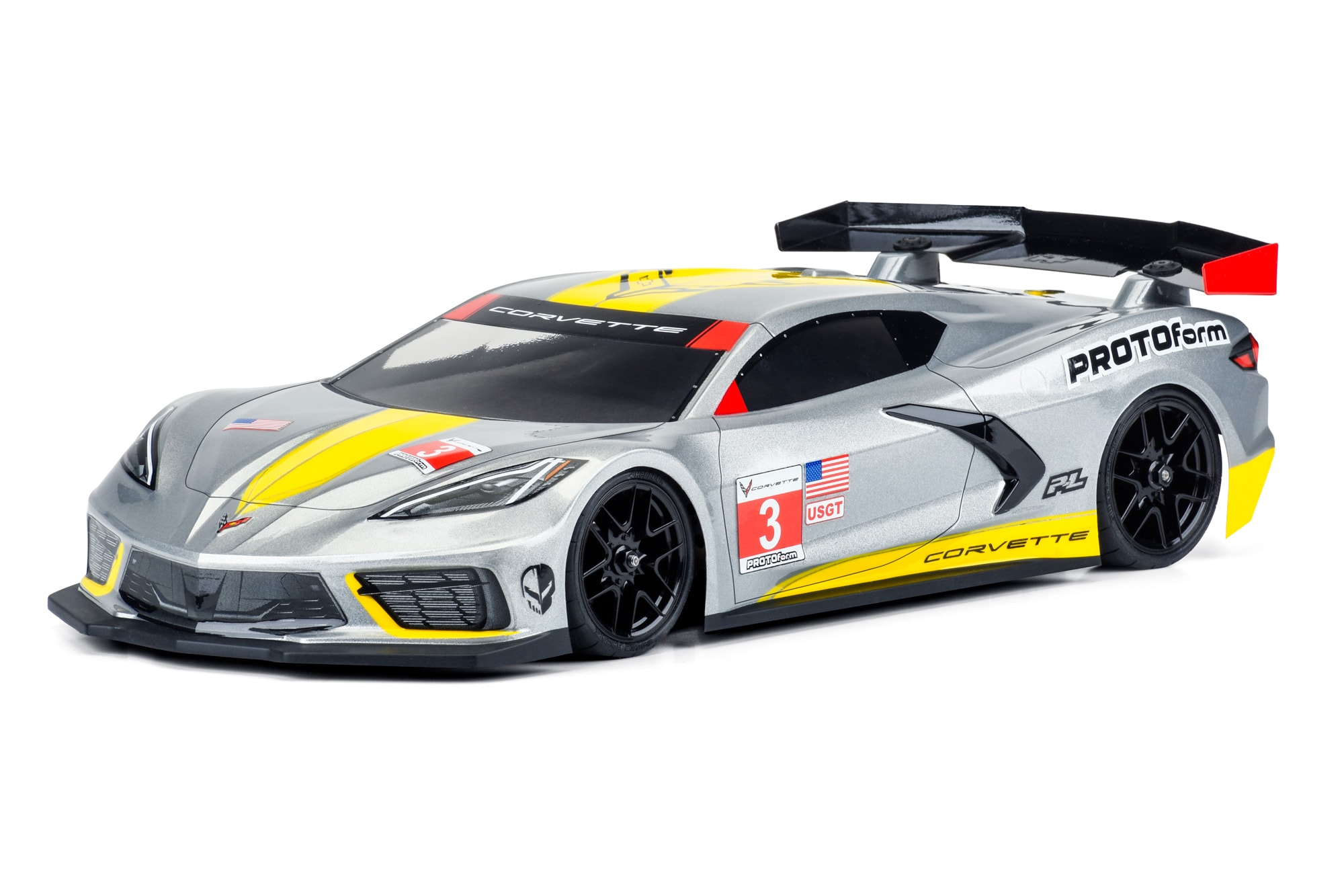PROTOform Chevy Corvette C8 Body for 190mm Touring Cars
