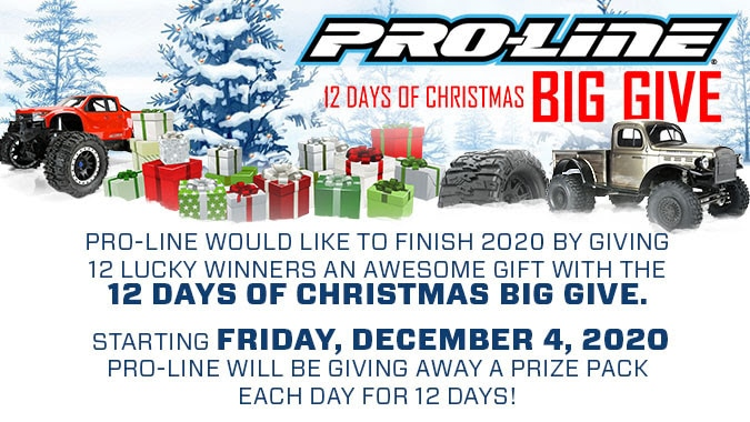 "Pro-Line's ""12 Days of Christmas Big Give"" is Back for Another Season of Treats"