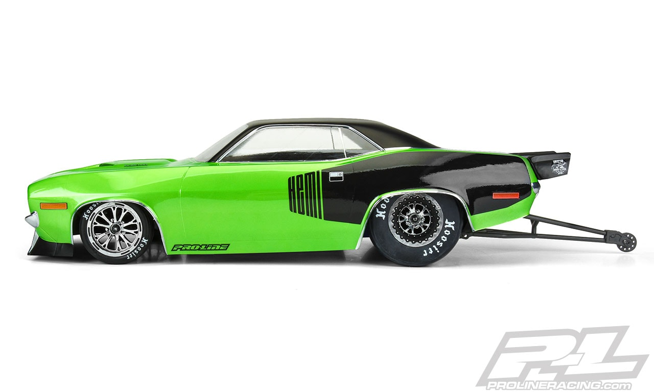 Pro-Line 1972 Plymouth Cuda Dragster Body - Side