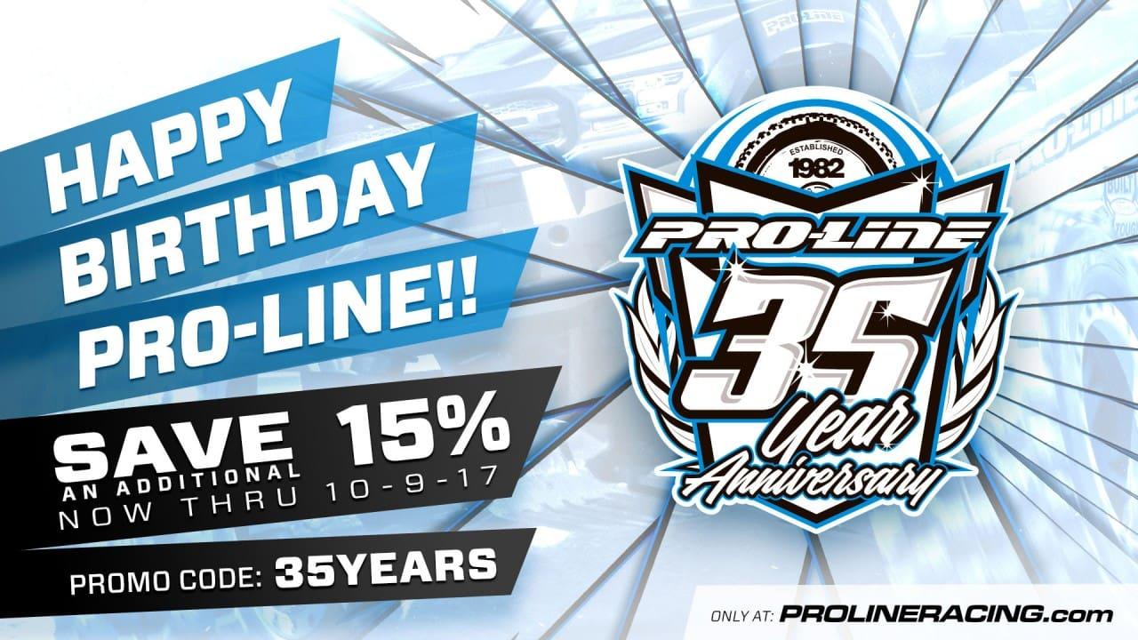 Pro-Line 35th Birthday Sale