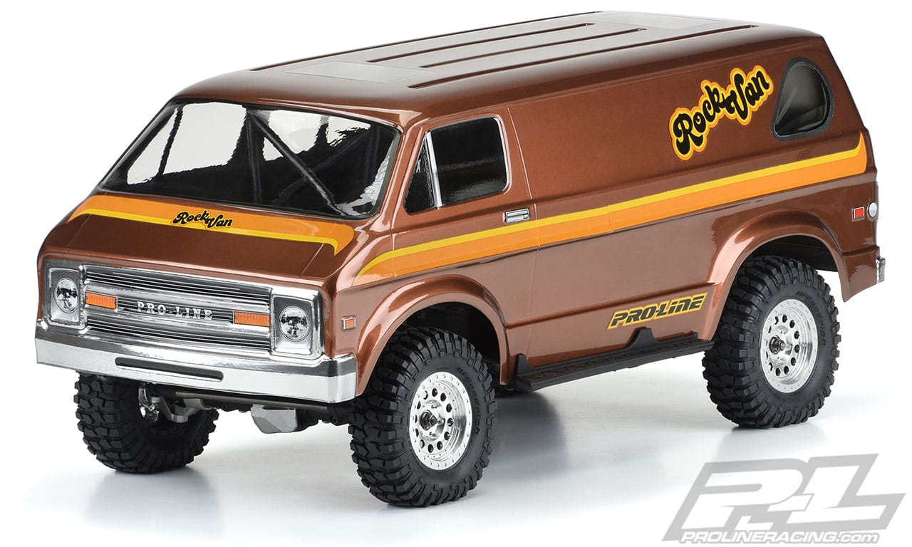 Rock the Trail with Pro-Line's '70s Rock Van Clear Crawler Body