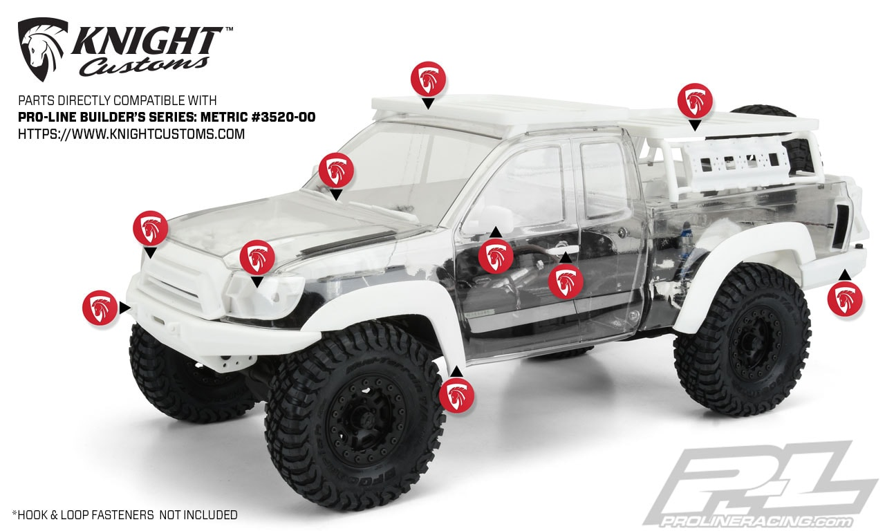 Pro-Line Builders Series Metric Body - Knight Customs Accesories