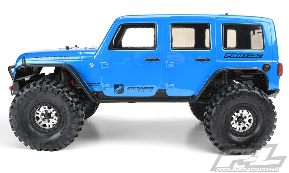 Pro-Line Jeep Wrangler Unlimited Rubicon Body for the Traxxas TRX-4 - Side