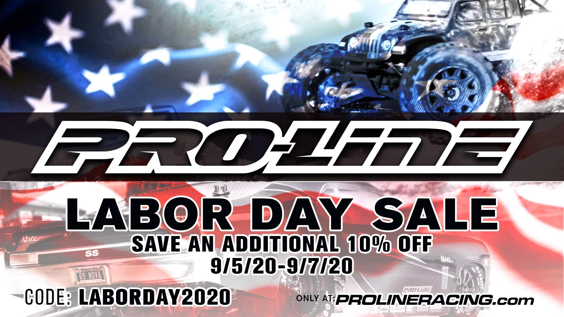 Enjoy 10%-off Labor Day Savings from Pro-Line
