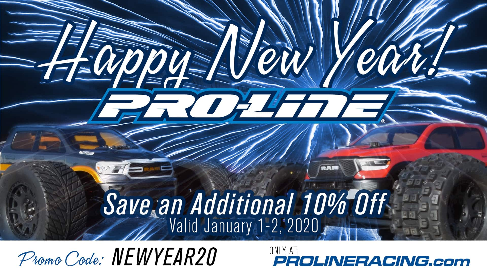 Ring in the New Year with 10% Off from Pro-Line