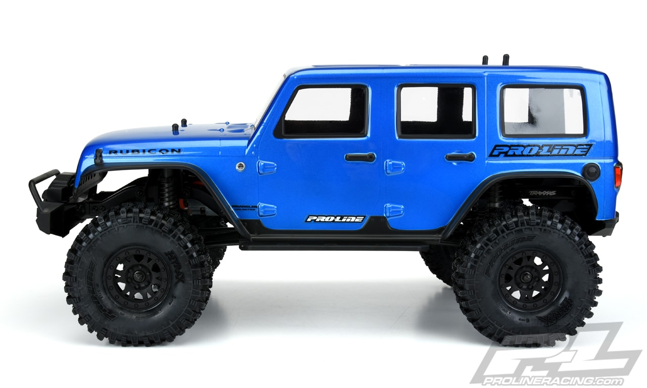 Pro-Line Pre-cut Pre-painted Jeep Wrangler Unlimited Rubicon Body for the Traxxas TRX-4 - Side