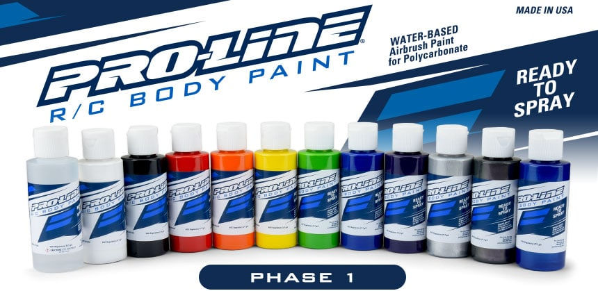 Pro-Line Launches Their Own Set of R/C Body Paints