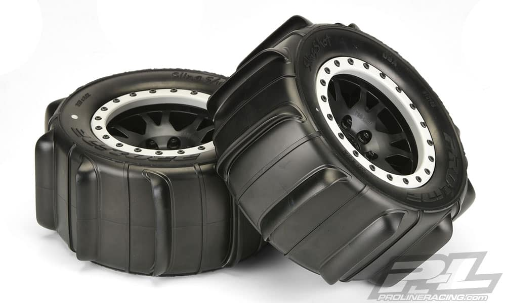 Pre-mounted Pro-Line Sling Shot 4.3″ Pro-Loc Sand Tires for the Traxxas X-MAXX