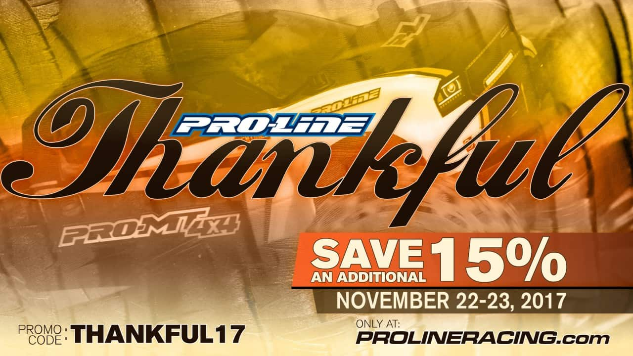 Get a Heaping Helping of Savings During Pro-Line's Thanksgiving Sale