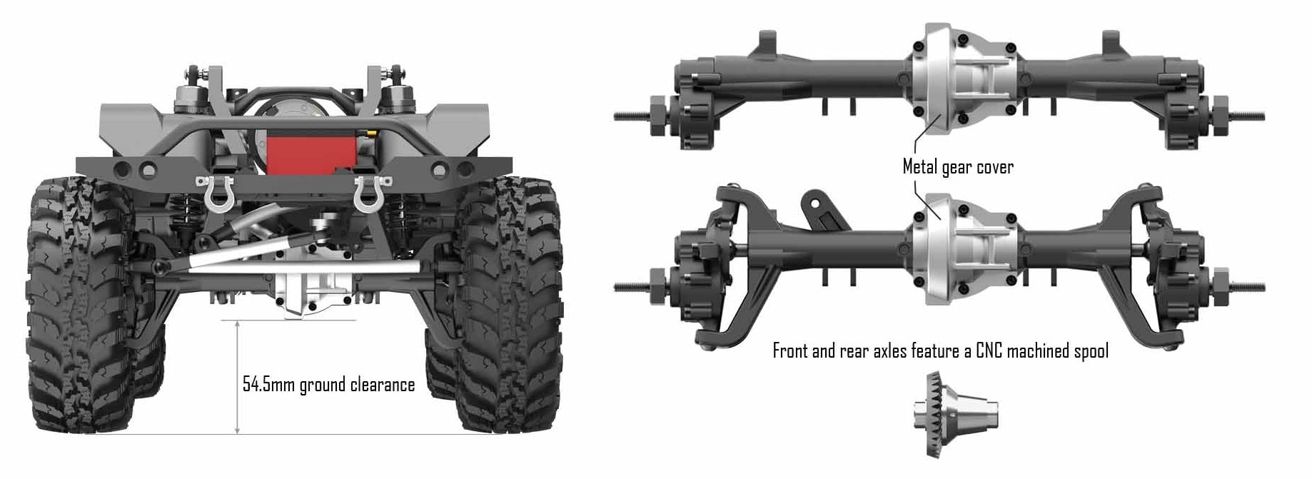 Redcat Racing GEN8 International Scout II - Portal Axles