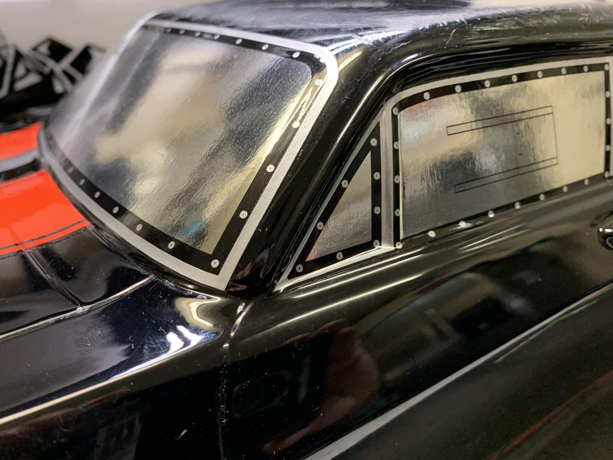 SOR RC Products Drag Racing Pro-Line Nova Window Decals