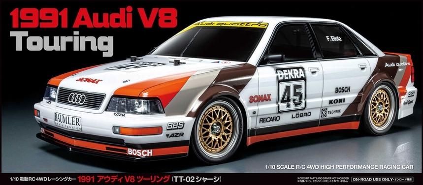 Tamiya 1991 Audi V8 Touring Car Kit - Box Art