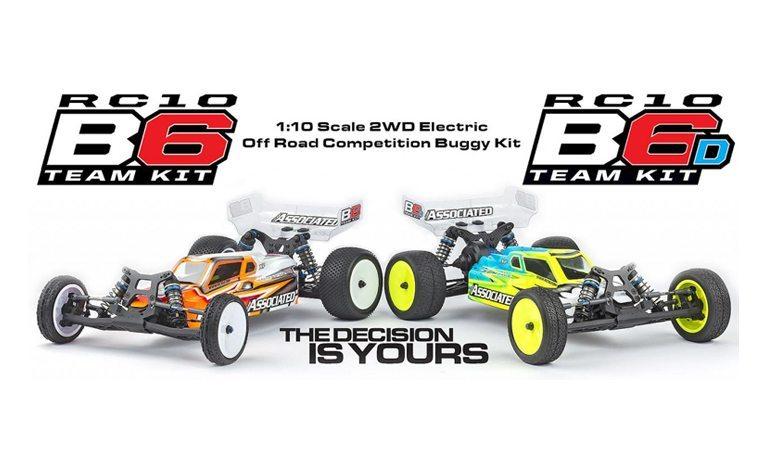Team Associated RC10B6 and RC10B6D R/C Race Buggies
