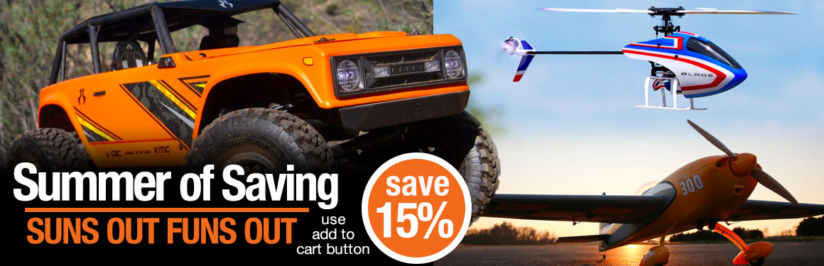 Tower Hobbies Launches Their 2020 Summer of Saving with 15% Off Select R/C Models and Gear