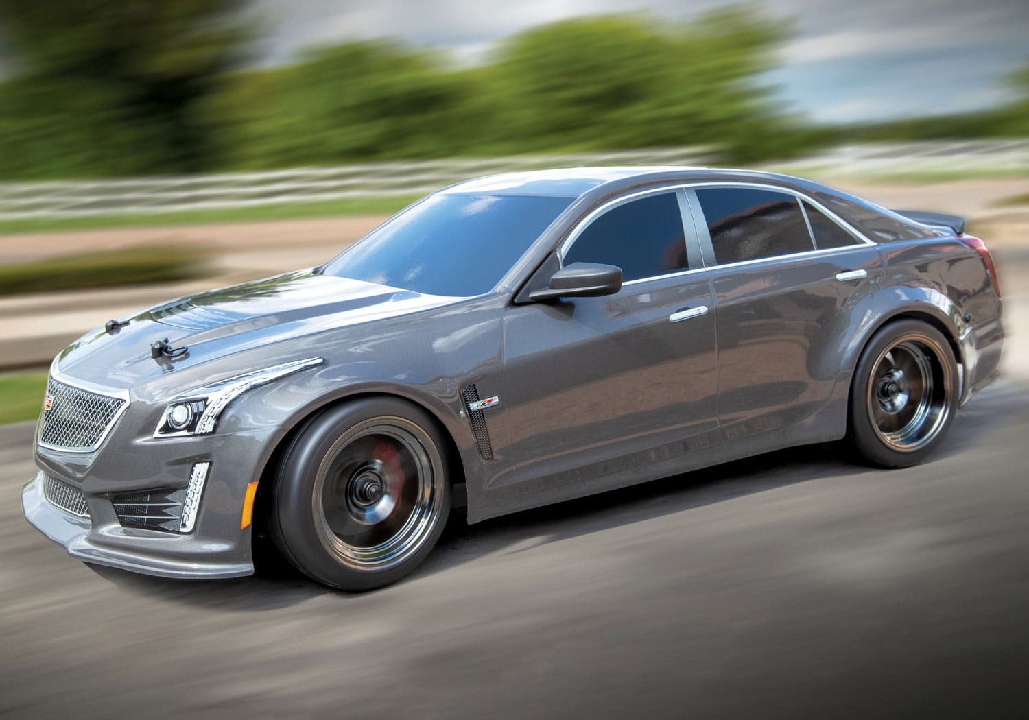 Traxxas Cadillac CTS-V Body - Silver - Motion