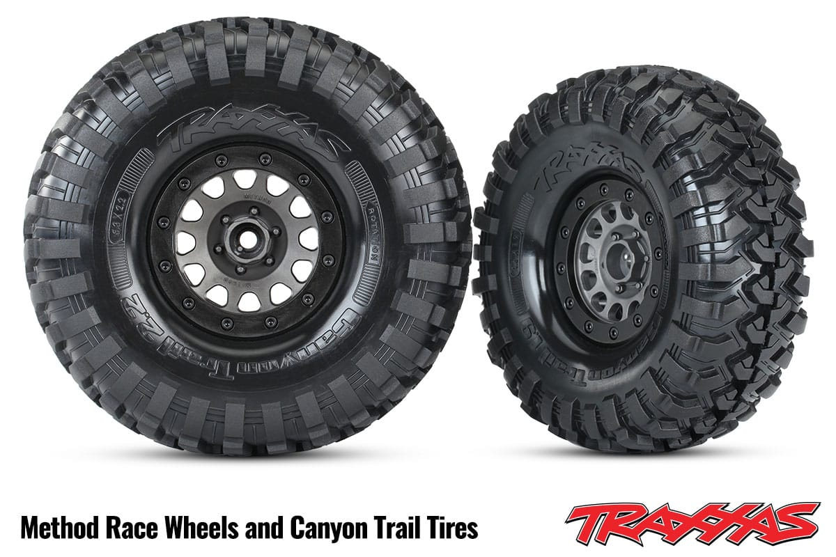 Traxxas Method Racing Wheels and Canyon Tires
