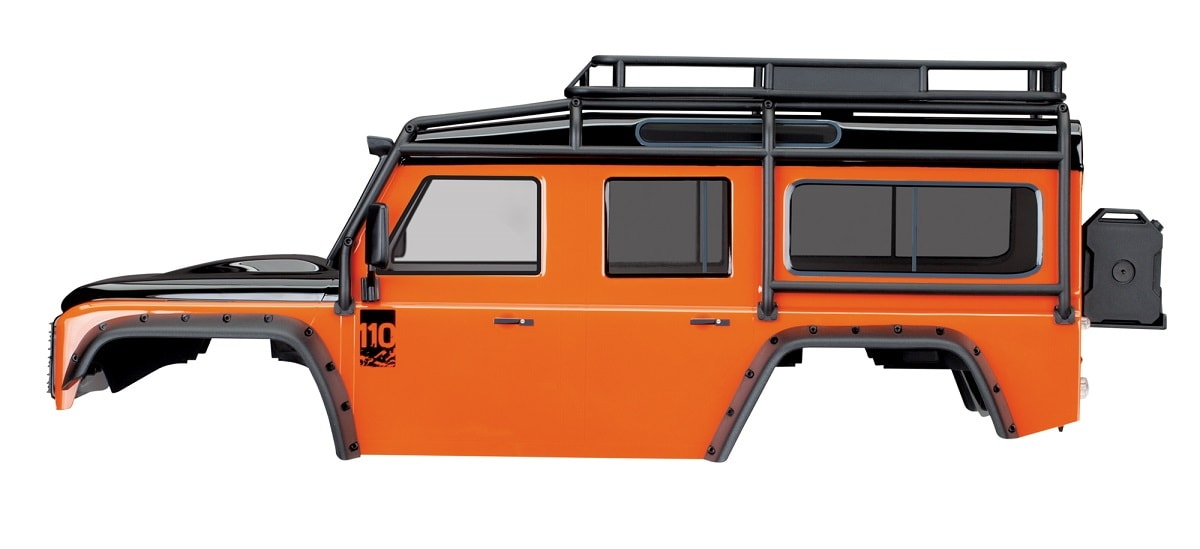 Traxxas TRX-4 Land Rover Defender Body - Adventure Orange - Side