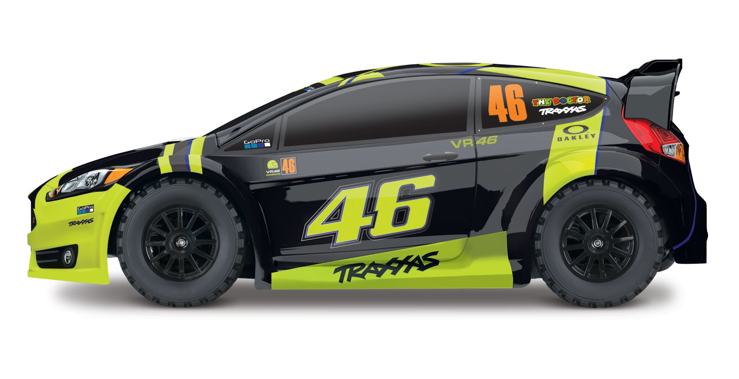 Traxxas Valentino Rossi Special Edition Rally Car - Side