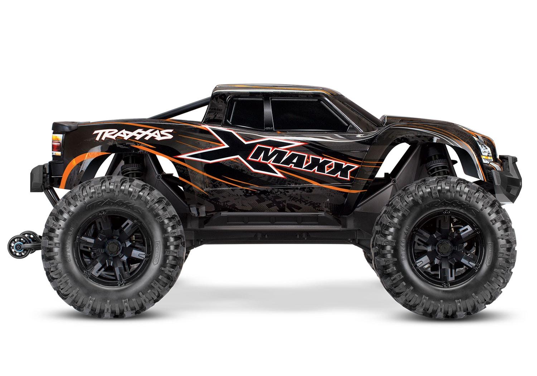 Traxxas X-Maxx Orange Edition - Side
