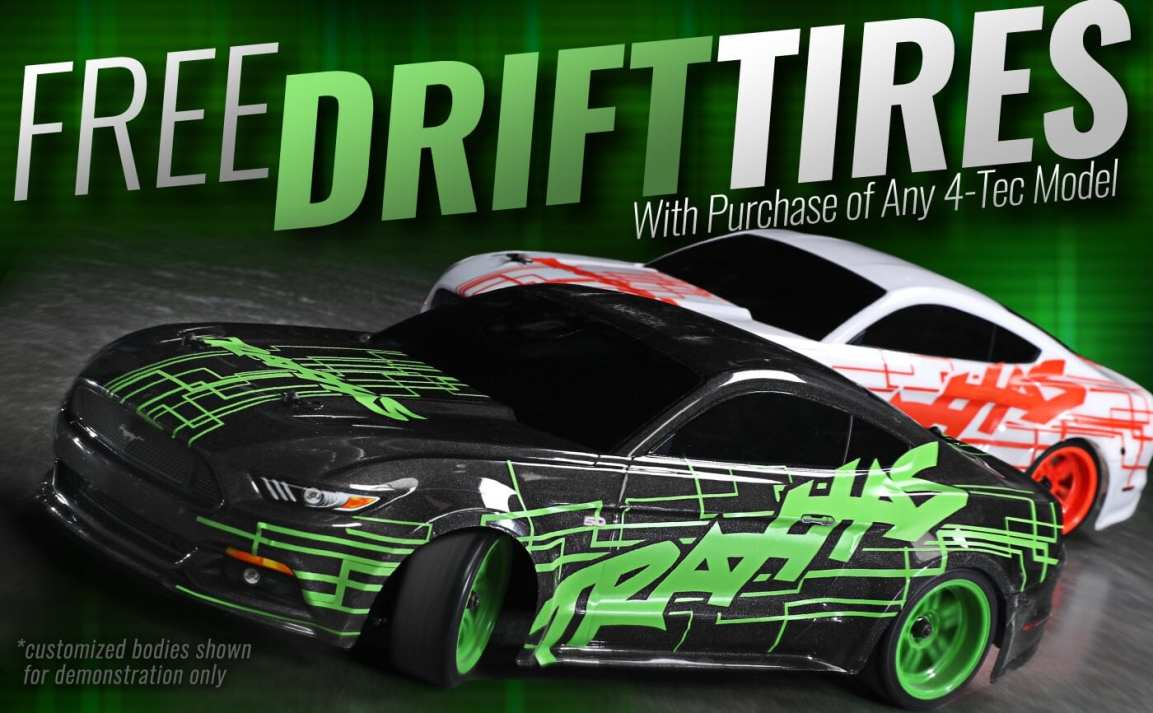 Buy a Traxxas 4-Tec 2.0, Get a Free Set of Drift Tires