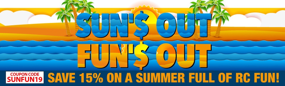 "Enjoy ""Sun's Out, Fun's Out"" Savings from Horizon Hobby"