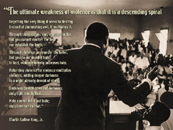 Martin Luther King On Violence poster