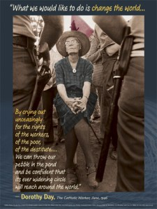 Dorothy Day poster, photo by Bob Fitch