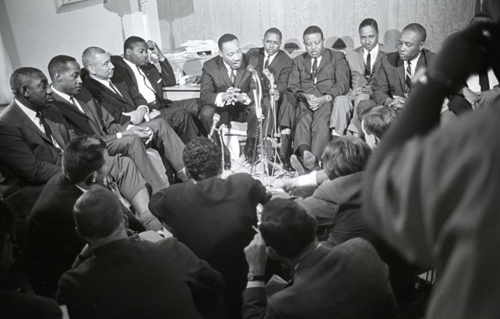 Atlanta, GA, 1966: Alabama candidate press conference. Photo by Bob Fitch from the Stanford archives.