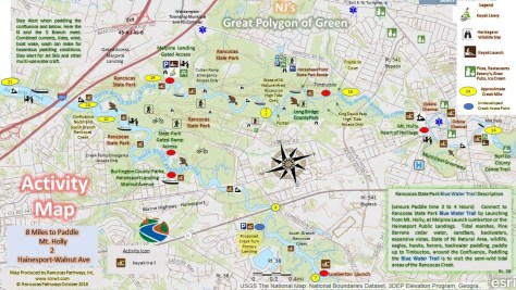 Maps | Rancocas Creek National Water Trail Program & Rancocas State Delaware River Canoeing Map on