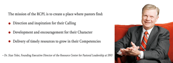 Dr. Stan Toler, Founding Executive Director of the Resource Center for Pastoral Leadership at SNU