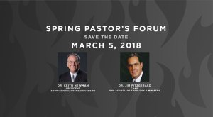 Pastor's Forum - Save the Date - Spring 2018