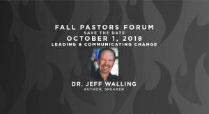 Pastors Forum - Fall Save the Date