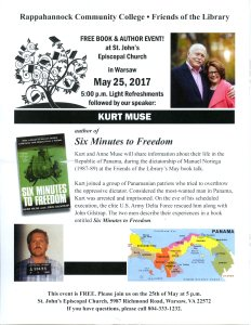 Book & Author Event! With Special Guest Kurt Muse! @ St. John's Episcopal Church