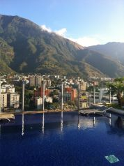 A lovely view from the hotel rooftop in Caracas