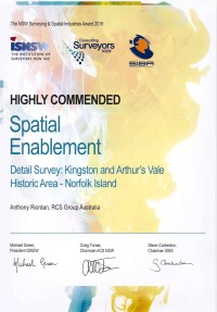 Highly Commended in the Spatial Enablement category.