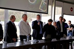 Cérémonie de signature des conventions Campus Rugby