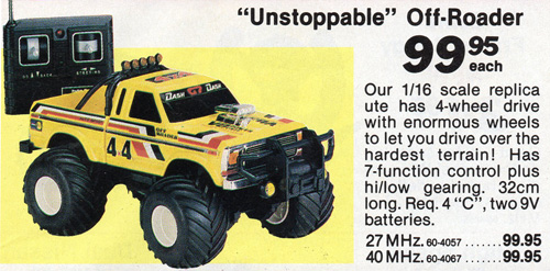 Tandy/Radio Shack 4x4 Off-Roader in a 1987 Tandy catalogue