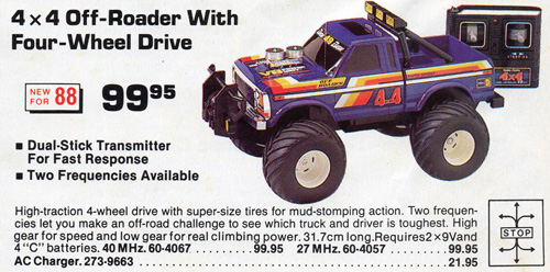 Tandy/Radio Shack 4x4 Off-Roader in a 1988 catalogue
