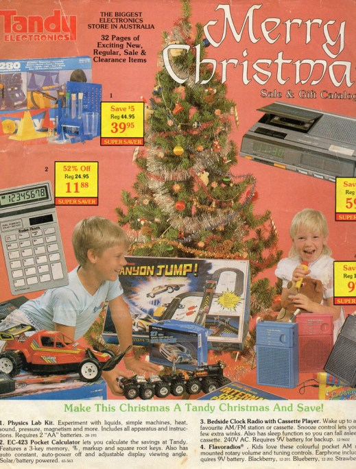 Tandy Merry Christmas Sale And Gift Catalogue, 1988