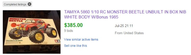Original Tamiya Monster Beetle Sold On Ebay