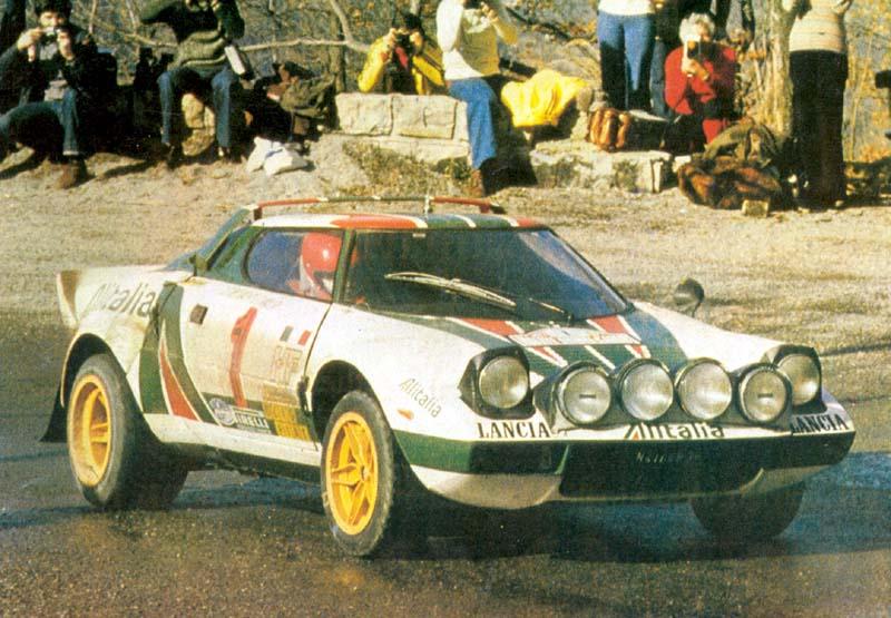 Sandro Munari, Lancia Stratos HF, 1977 Rallye Monte Carlo (winner)