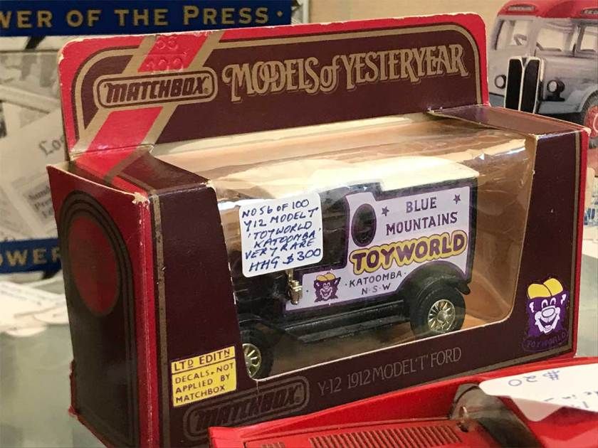 Katoomba Toyworld custom branded Matchbox Model T Ford