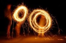 Sparklers, bigger circles